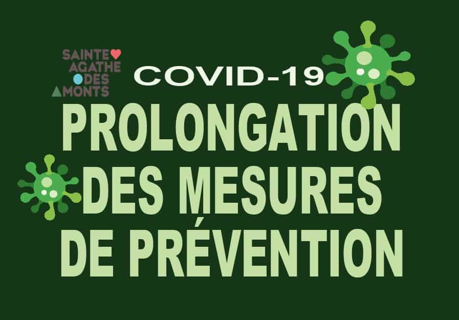 COVID-19 –La Ville de Sainte-Agathe-des-Monts prolongel'application des mesures de prévention