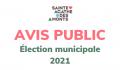 Élection municipale 2021 – Avis public d'élection et vote par correspondance